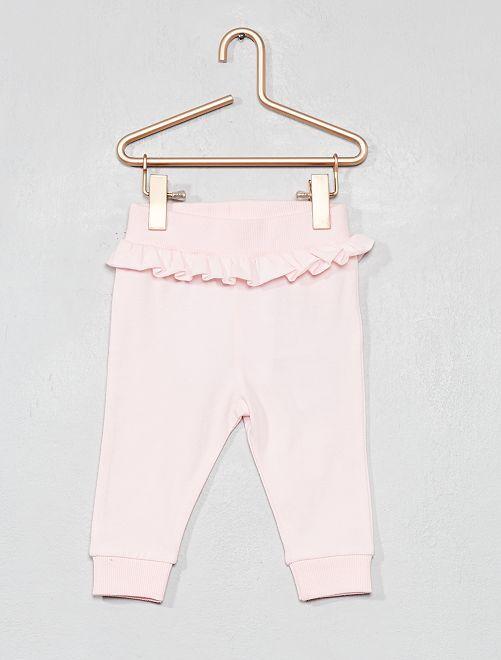 Pantalón de jogging con volantes                             rosa Bebé niña