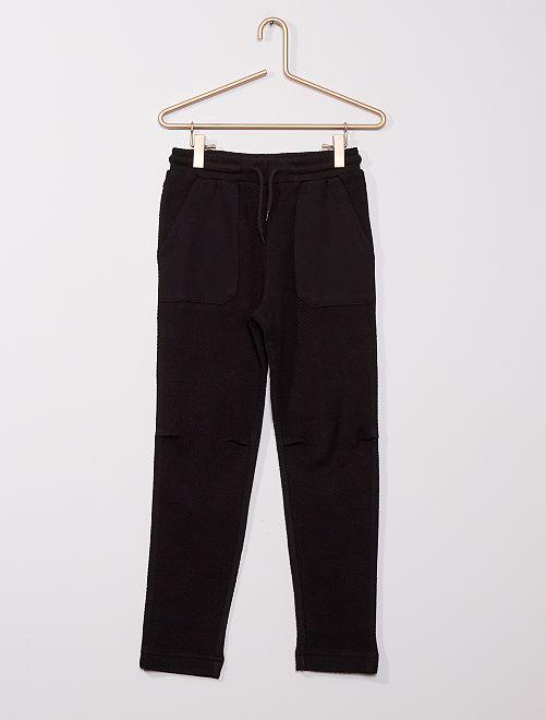 Pantalón de jogging de espigas                                                                 negro