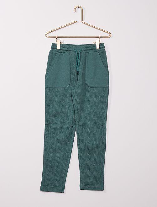 Pantalón de jogging de espigas                                                                 verde oscuro