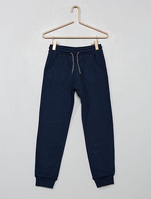 Pantalón de jogging de felpa                             azul