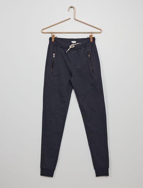 Pantalón de jogging de felpa                             azul marino