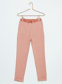 Pantalones - Pantalón de jogging de felpa brillante