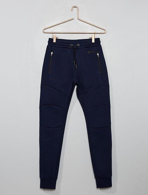 Pantalón de jogging de felpa de efecto 'neopreno'                                                                 azul