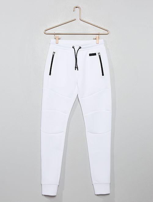 Pantalón de jogging de felpa de efecto 'neopreno'                                                                 BLANCO