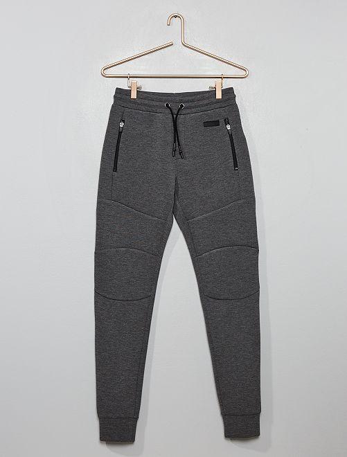 Pantalón de jogging de felpa de efecto 'neopreno'                                                                 GRIS