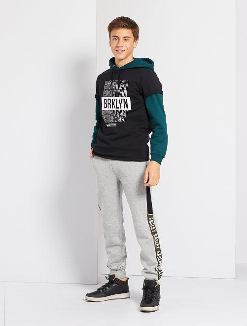 Pantalón de jogging de felpa elástica                                         GRIS