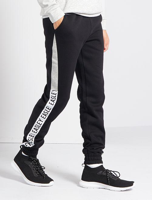 Pantalón de jogging de felpa elástica                                         negro