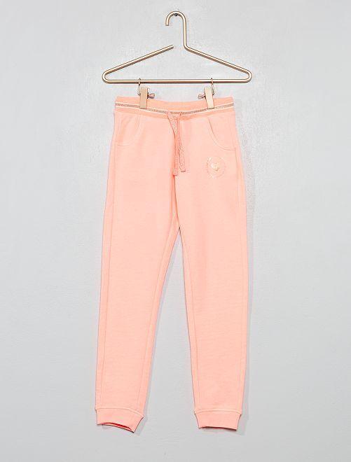 Pantalón de jogging de felpa estampado                     ROSA Chica