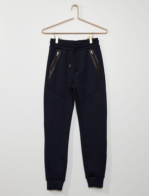 Pantalón de jogging de felpa estilo neopreno                                                     AZUL