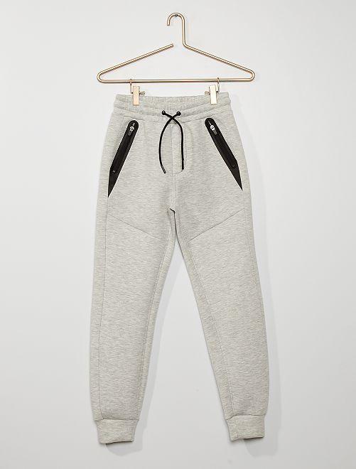 Pantalón de jogging de felpa estilo neopreno                                                     GRIS