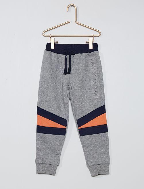 Pantalón de jogging de felpa                                         gris