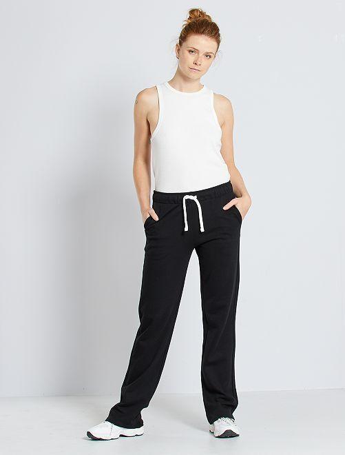 Pantalón de jogging de felpa                     negro