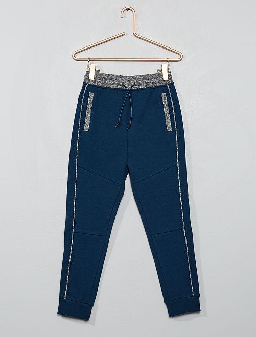 Pantalón de jogging de piqué de algodón                                                                 AZUL