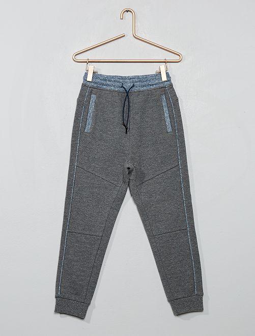 Pantalón de jogging de piqué de algodón                                                                 GRIS