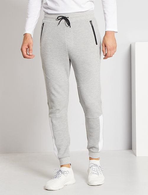 Pantalón de jogging de piqué                                         GRIS