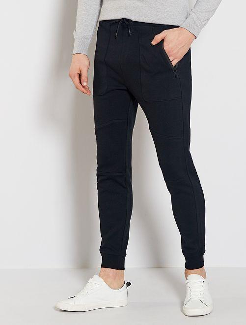 Pantalón de jogging de punto de piqué                             negro
