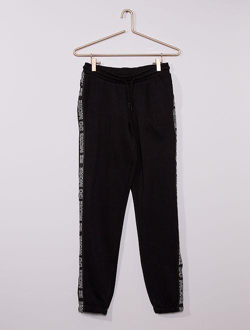 Pantalón de jogging deportivo eco-concepción                             negro