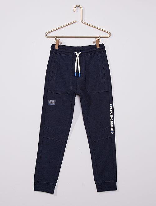 Pantalón de jogging estampado                                         AZUL