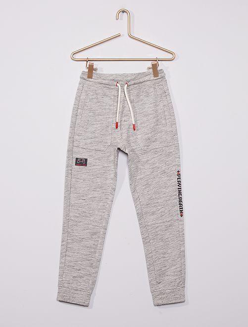 Pantalón de jogging estampado                                         GRIS