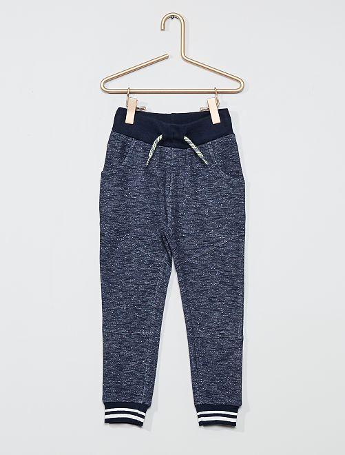 Pantalón de jogging jaspeado                             NEGRO