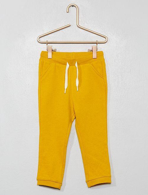 Pantalón de jogging liso de felpa                                                                 amarillo bronce