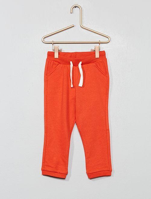 Pantalón de jogging liso de felpa                                                                 naranja páprika Bebé niño
