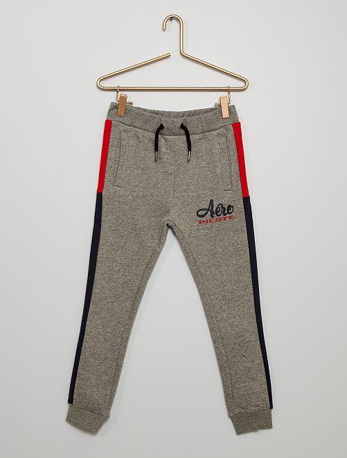 Pantalón de jogging tricolor                                                                 gris