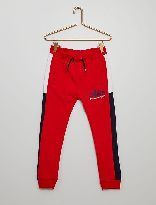 Pantalón de jogging tricolor                                                                 ROJO