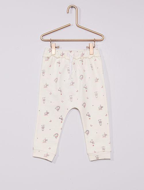 Pantalón de jogging 'Winnie' eco-concepción                             BLANCO