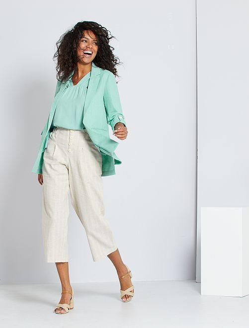 Pantalón de lino 'eco-concepción'                             BEIGE