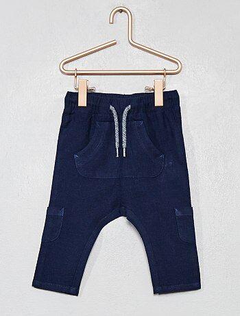 Niño 0-36 meses - Pantalón de lino y algodón multibolsillos - Kiabi 00f7ec05b497