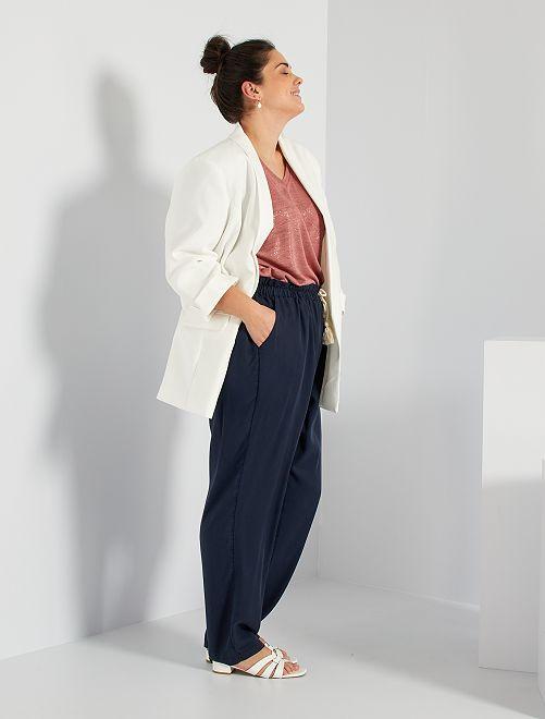 Pantalón de lyocell                                         azul