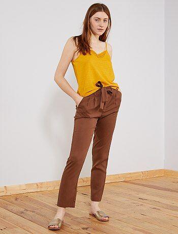 Pantalones rectos Mujer talla 34 a 48  3da8789bd9e