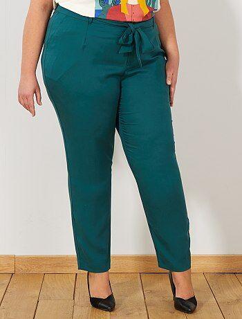 Pantalón de lyocell con pinzas - Kiabi dee733b50ec8