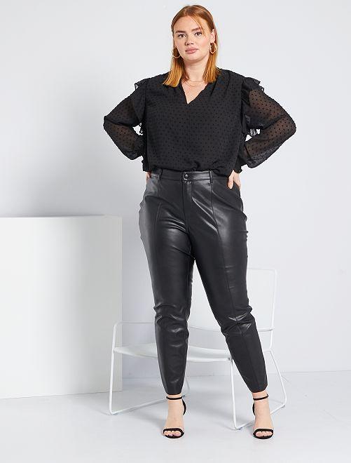 Pantalón de material sintético                             negro