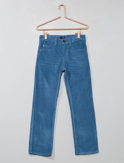 Pantalón de pana                                                                             AZUL Chico