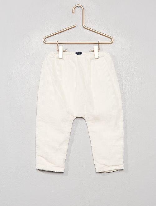 Pantalón de pana forrado                                         blanco nieve