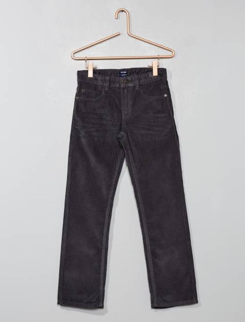 Pantalón de pana                                                                 GRIS Chico