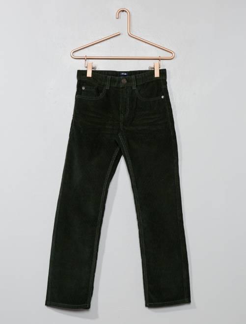 Pantalón de pana                                                                                         KAKI Chico