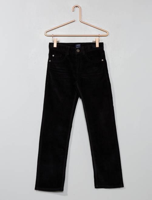 Pantalón de pana                                                                                         negro Chico