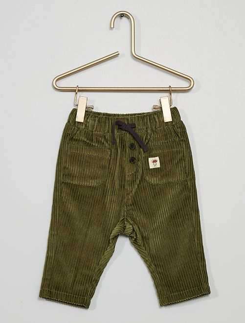 Pantalón de pana                                                     verde liquen