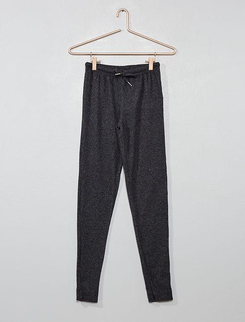 Pantalón de pijama de canalé                             GRIS Joven niña