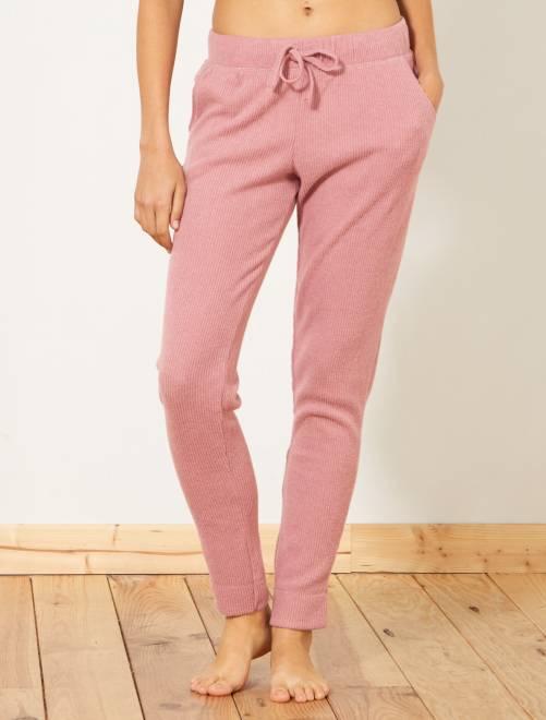 Pantalón de pijama de canalé                                         rosa Lencería de la s a la xxl