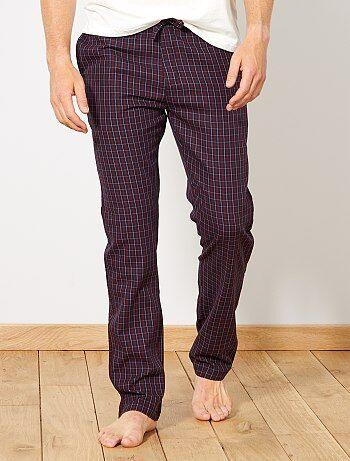 Hombre talla S-XXL - Pantalón de pijama de cuadros - Kiabi