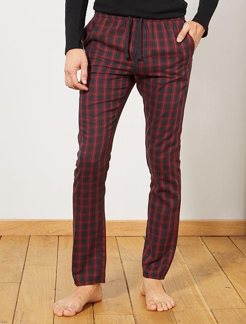 Pantalón de pijama de cuadros                                                     GRIS