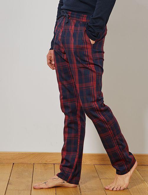 Pantalón de pijama de cuadros                                                     ROJO