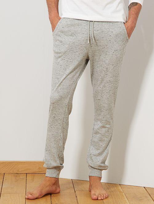 Pantalón de pijama de felpa                                                     GRIS
