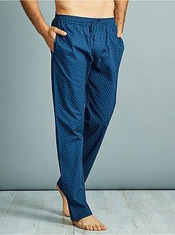 Pijamas, batas - Pantalón de pijama de popelina de algodón puro - Kiabi