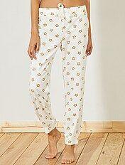 Pantalón de pijama de tejido polar