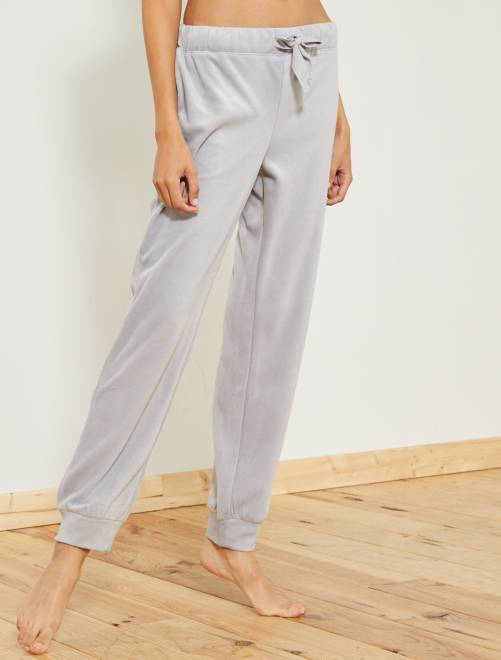 Pantalón de pijama de tejido polar                                                     GRIS Lencería de la s a la xxl